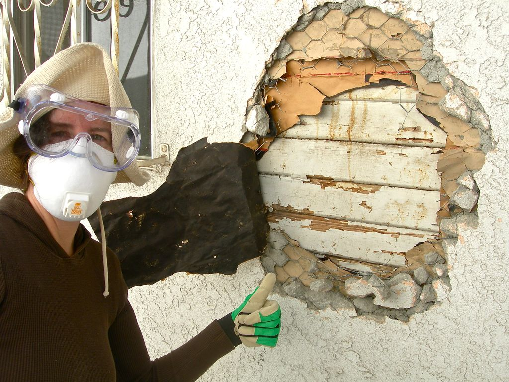 Diy With A Buddy How To Remove Stucco Soulful Abode