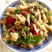 Pantescan Pasta With Capers, Olives and Tomatoes