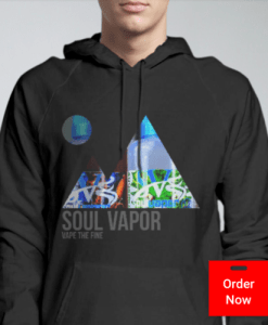 Mountain Hoodie Black | Soul Vapor Apparel