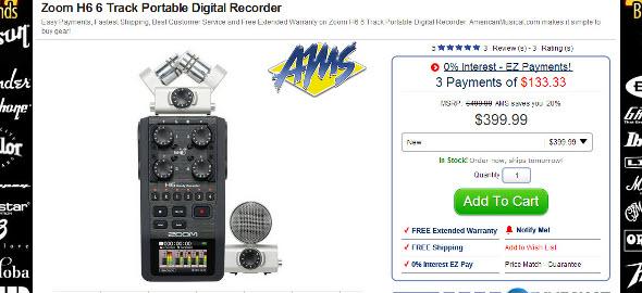 ZoomH6PortableRecorder