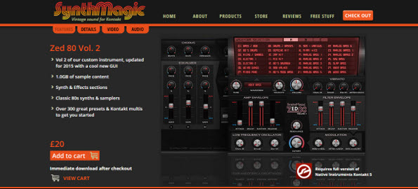 Review: Synthmagic Zed 80 Volume 2 for Kontakt 5