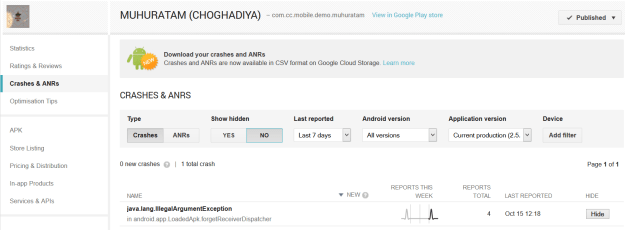 google crashes