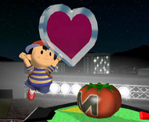 The healing power of the Maxim Tomato and the Heart Piece has been reduced to 50% and 100%, respectively.