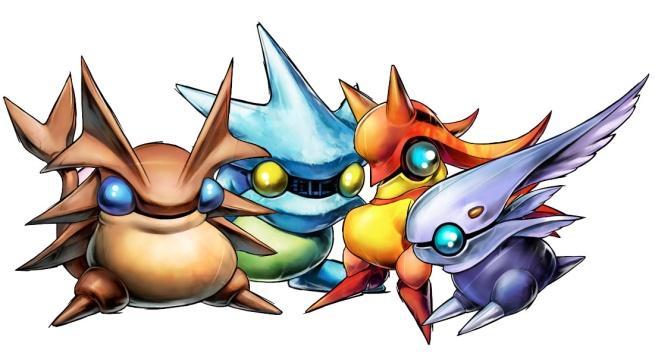 The four elemental djinn