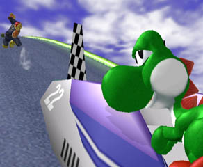 If you hit the ground you'll fly off the left of the screen. Seriously...it's way too fast.
