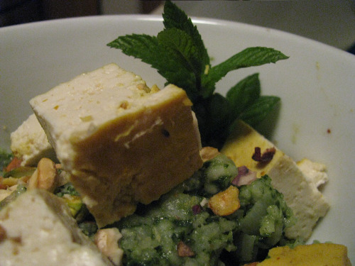 Recipe: Green Rice with Curried Tofu