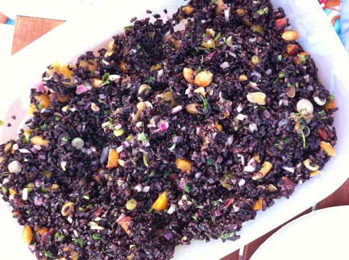 Recipe: Black Rice Salad with Mango and Peanuts