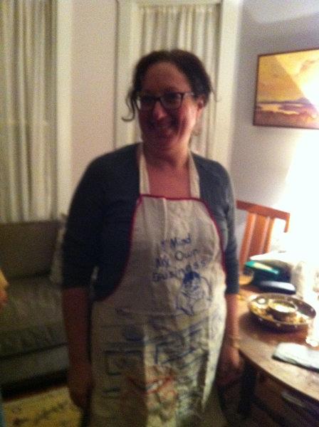 Irene in her apron