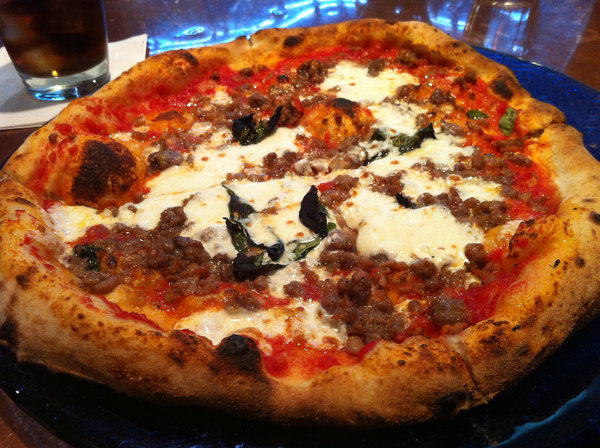 Margherita with sausage.