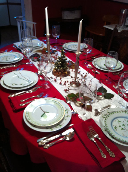 Christmas Eve table setting