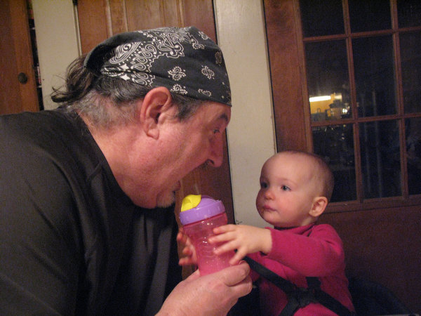 Sam Likes to Feed Daddy, Too