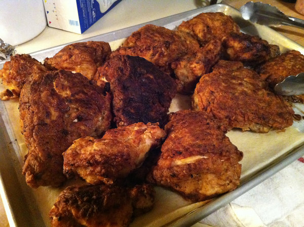 Fried chicken, a la Shannon.