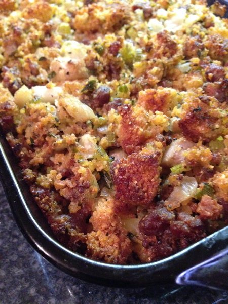 Cornbread Dressing with Fennel and Sausage