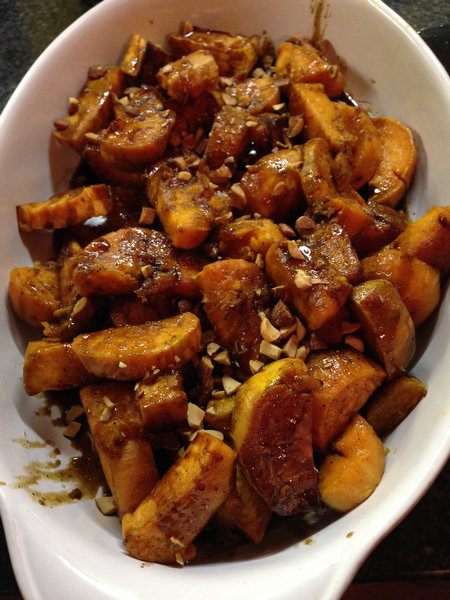 Sweet Potatoes with Maple-Bourbon Glaze