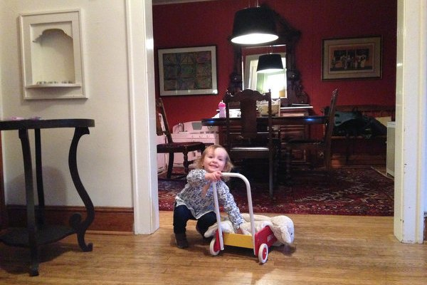"""Sam Shows off Her """"Moves"""" and Plays with a Wagon"""