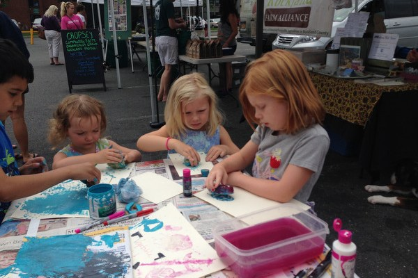 A Walk Downtown, and Crafts at the Farmers Market