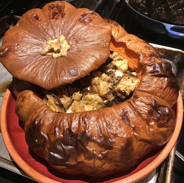 Pumpkin Stuffed with Everything Good