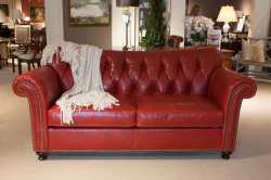 Small Of Red Leather Sofa