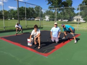 Preparing Upton courts: Nancy Robertson, Jim Gambino & John Collier