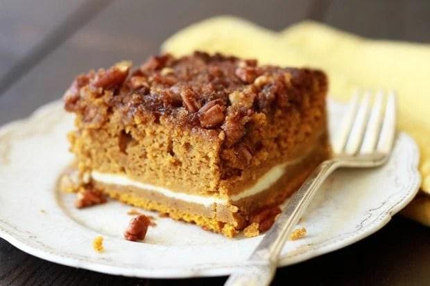 Pumpkin Cream Cheese Crunch Cake