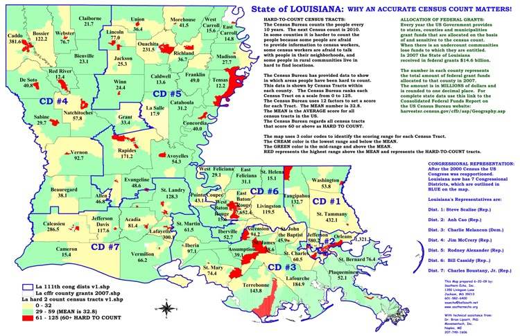 Louisiana Census Maps Southern Echo