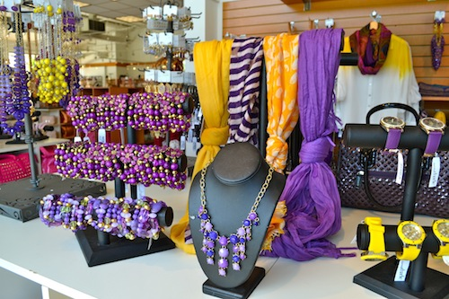 Purple and Gold Accessories