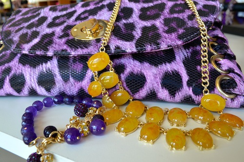 Purple and Gold Accessories Animal Print