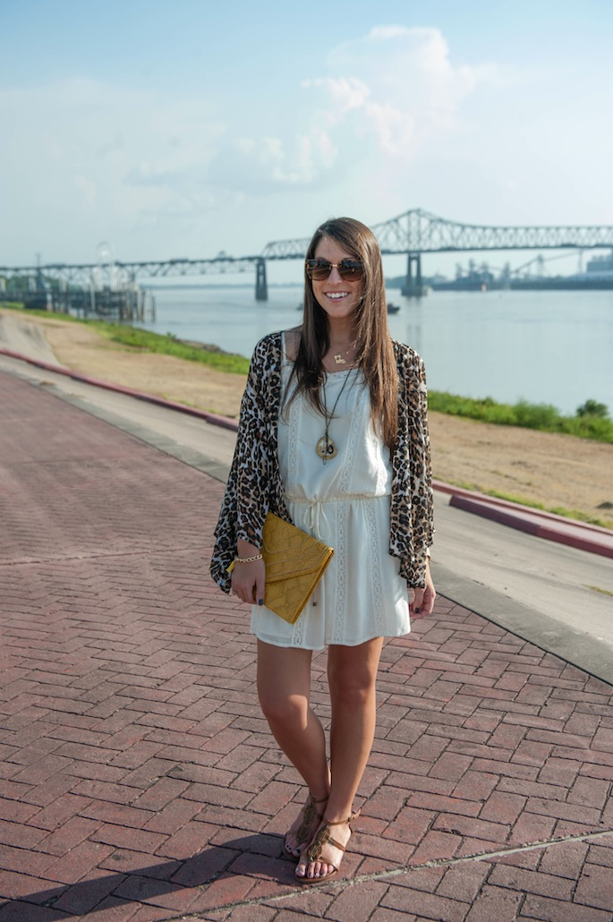 LSU Gameday Outfit with Leopard Print