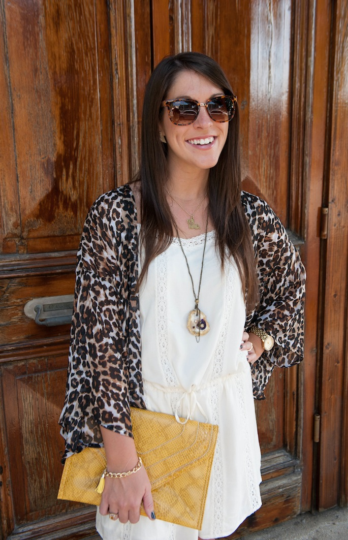Layer a kimono over summer dresses to transiton into the fall | Southern Flair