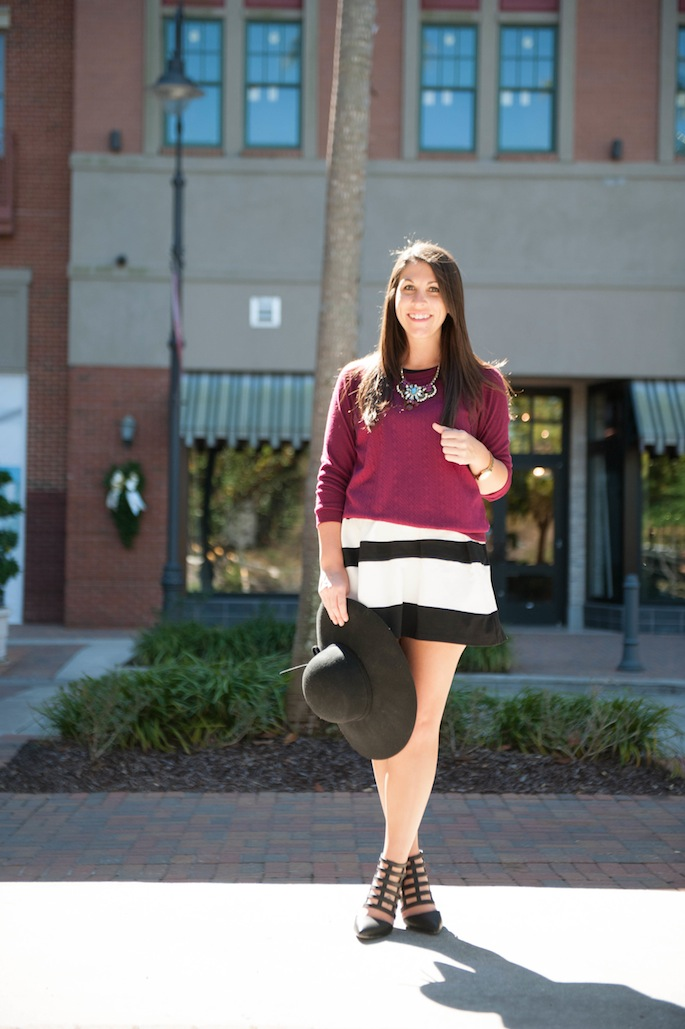 Pair a sweater over dress for winter look | Southern Flair