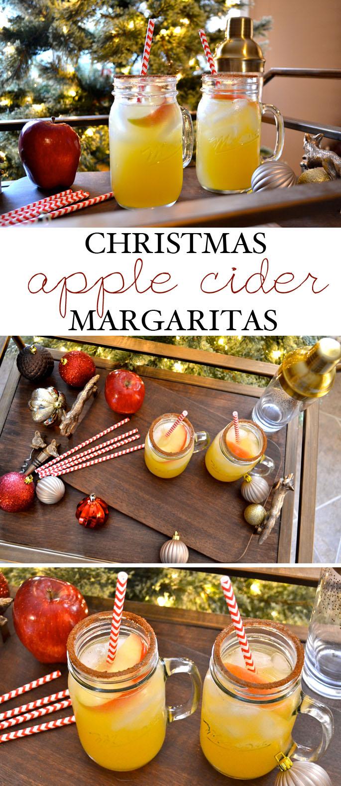 Christmas Apple Cider Margaritas | Southern Flair