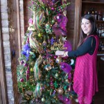 A Christmas Tree turned Mardi Gras ready!