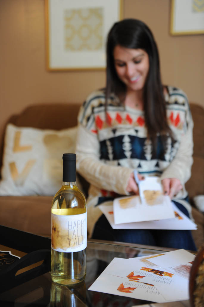 Download your free fall and Thanksgiving wine labels from Blue Lemon Co!