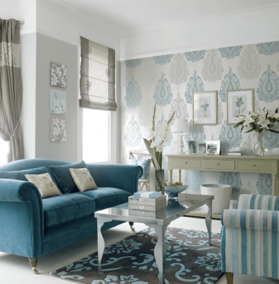 Feature Wall of Wallpaper - Southern Hospitality