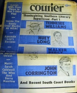 Orriginal Courier in which interview was published
