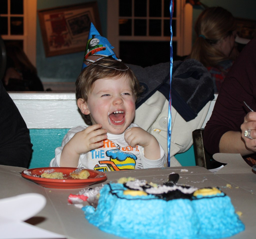 Thomas the Train Birthday Celebration + DIY Character Cake [Southern Made Blog]