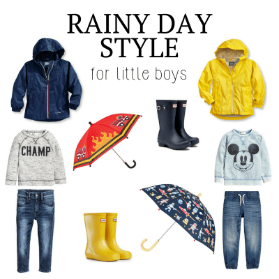 Rainy Day Style for Little Boys
