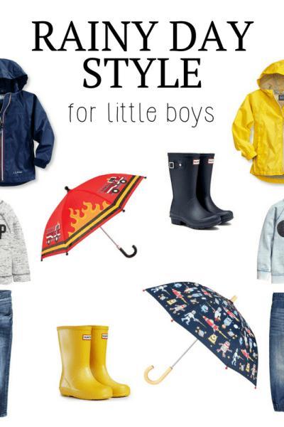 Rainy Day Style for Little Boys