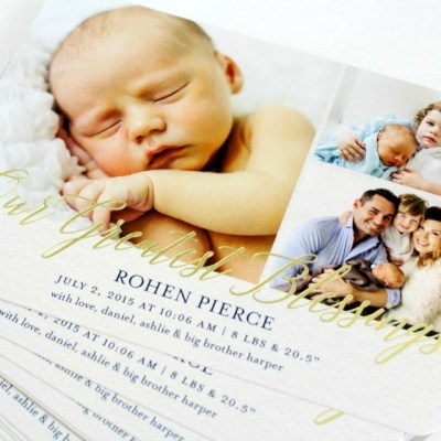 Rohen Pierce | Tiny Prints Birth Announcements