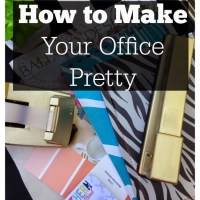 How to Make Your Office Pretty: Give It Some Glam
