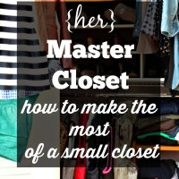 {Her} Master Closet Update (part 2)