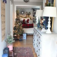 {The Dining Room} 2016 Blue Christmas Home Tour