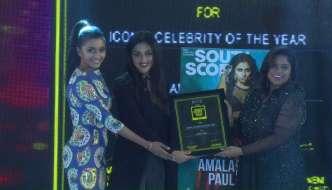 Amala Paul wins SouthScope's Iconic Celebrity of the Year Award