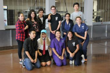 """The 2015-2016 HOSA officer board was announced during the last general member meeting. The end of the year banquet, where the officers will be officially inducted is scheduled on May 15. """"Working with Krystal, we hope to make this year of HOSA the best it can be and hope our new members will learn to love this organization as much as we do,"""" Vice President Cecilia Romero said. Photo Credit: Emily Yu"""