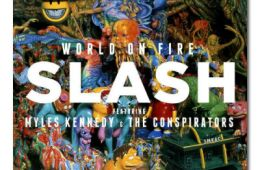 Revered guitarist Slash amplifies his talents with a band of accomplished performers, ushering in a work of musical acuity. Photo credit: courtesy of Slash feat. Myles Kennedy and the Conspirators.