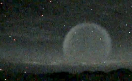 Misterioso flash con forma de burbuja sobre Hawaii