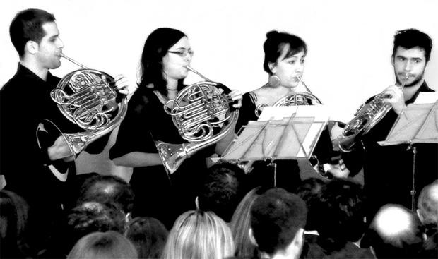 Cuarteto de Trompas Corleón - Foto: puntocoma.org