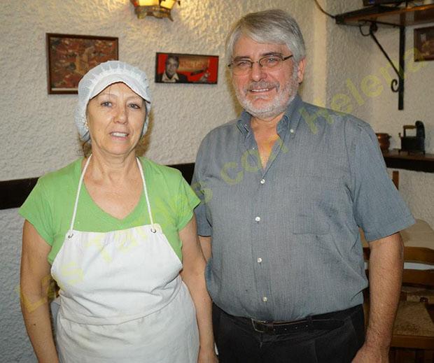 Lola y Paco González, promotores del cocido maragato en Málaga