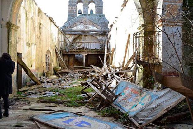 Estado actual de la iglesia de Carbajales de la Encomienda, Zamora