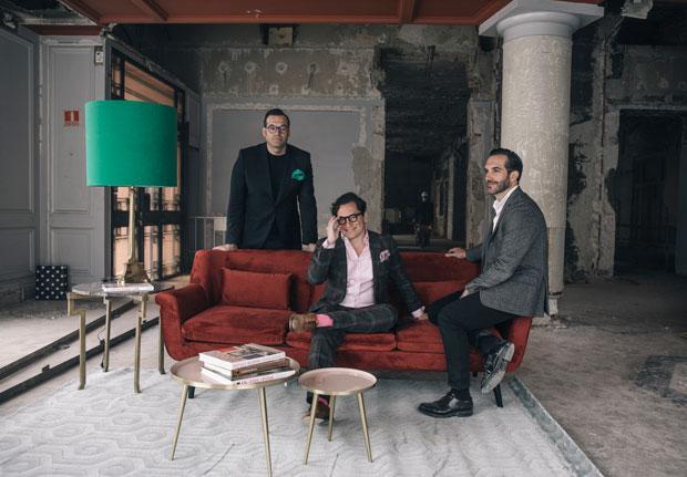 Los hermanos Sandoval en las obra del restaurante Coque de Madrid